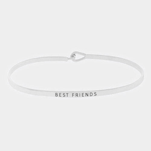 Best Friends Mantra Bracelet Silver