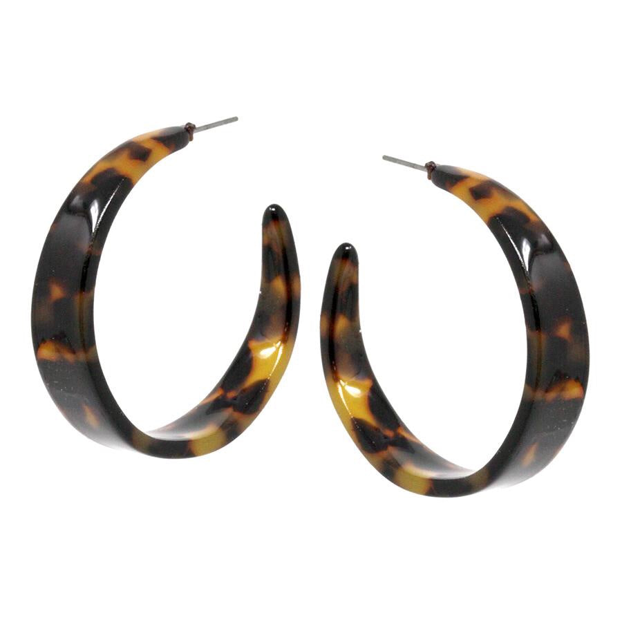 Zeke Wide Acetate Hoop Earrings