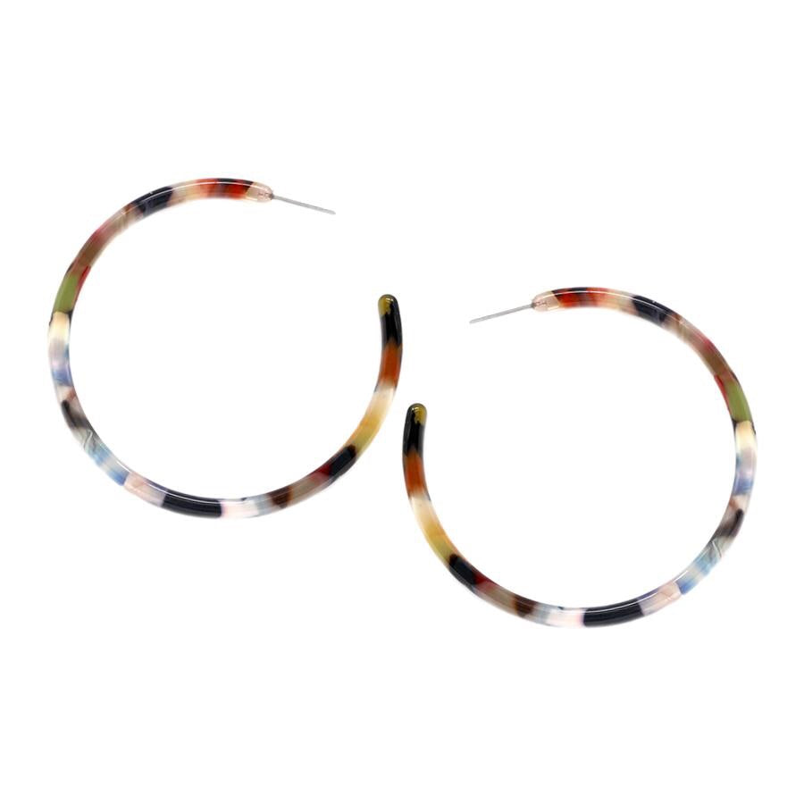 Apollo Acetate Hoop Earrings