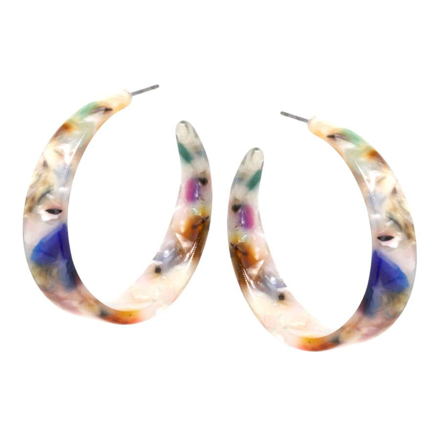 Fritz Wide Acetate Hoop Earrings