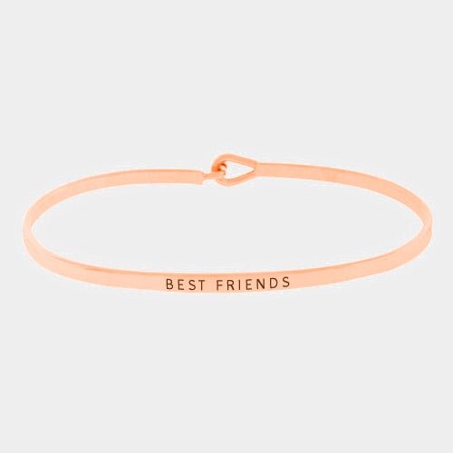 Best Friends Mantra Bracelet Rose Gold