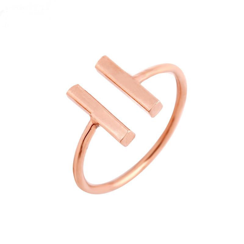 Double Barre Ring Rose Gold