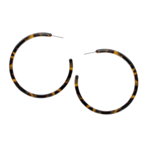 Athena Acetate Hoop Earrings