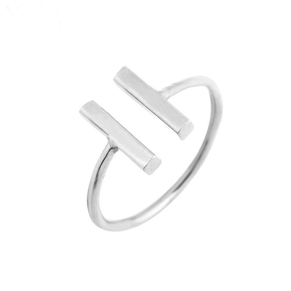 Double Barre Ring Silver