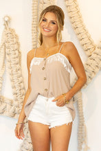 Fringe Button Top