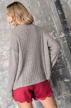 Knit V Neck Sweater