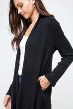 Solid Long Cardigan (2 colors)