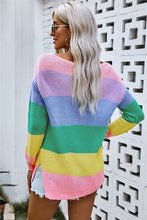 Slouchy Rainbow Sweater