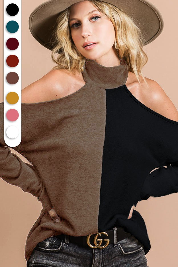Turtle Cold Shoulder Top