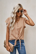 Button Up Ruffle Blouse