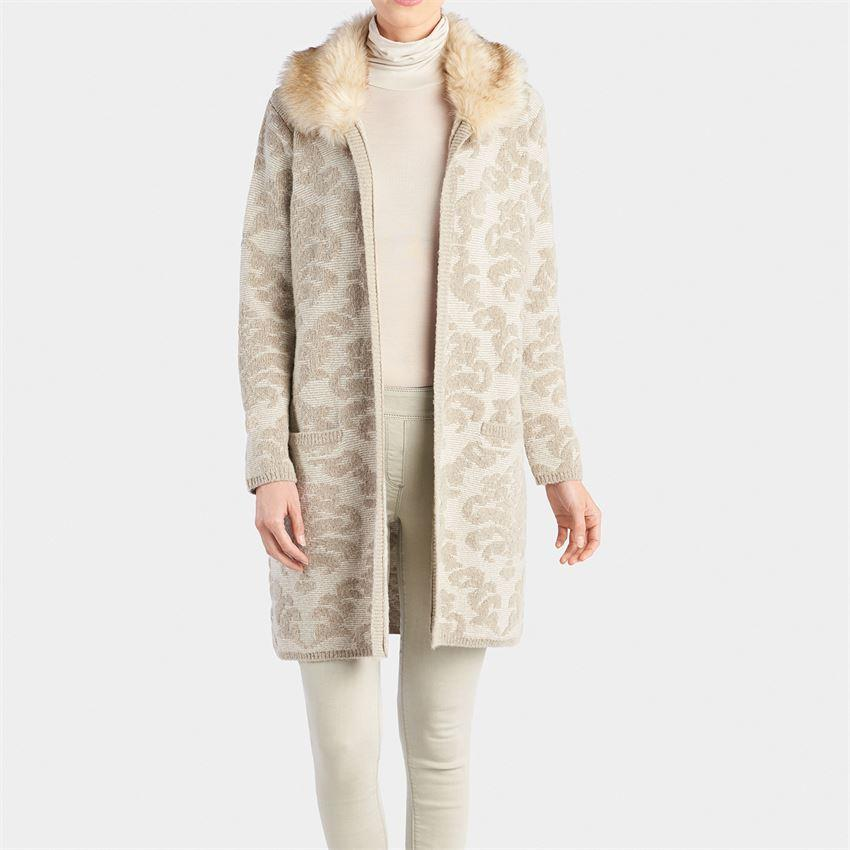 Sade Faux Fur Collar Cardigan