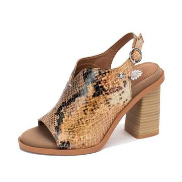 Carlee Snake Wedge Shoes