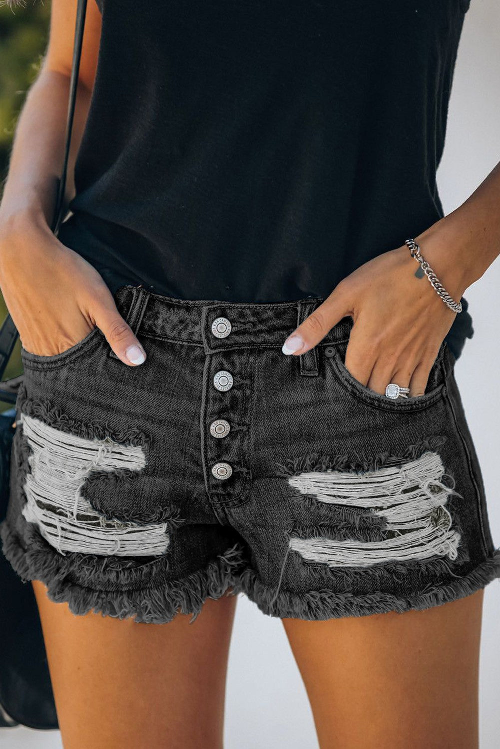 Romani Distressed Shorts