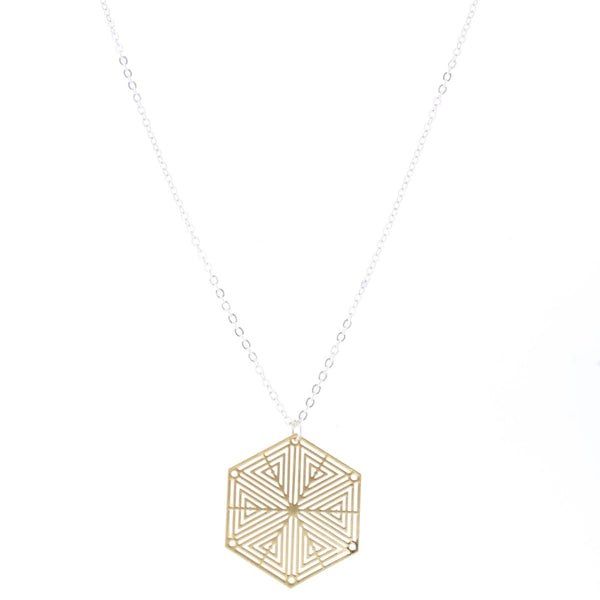 Gold Cutout Necklace (3 shapes)