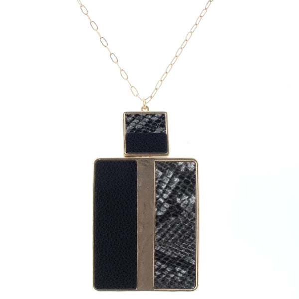 Leather Rectangle Pendant
