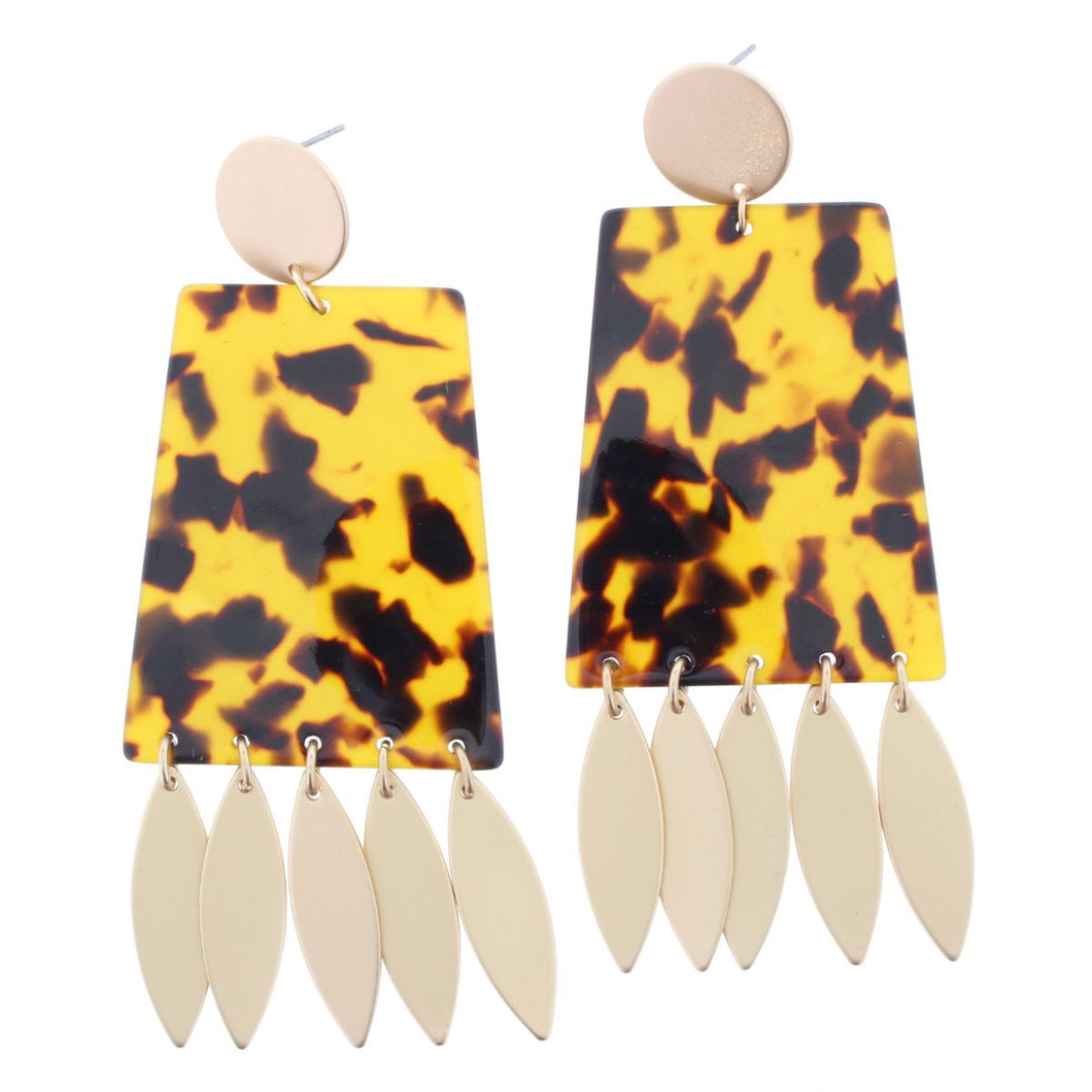 Resin/Fringe Earring