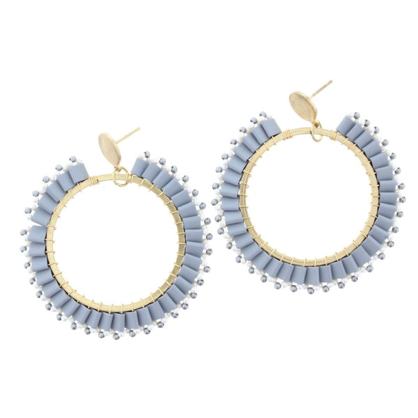 Open Circle Post Earring (2 colors)