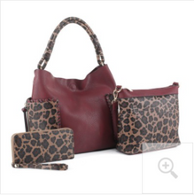 Leopard Print Handle 3-in-1 Shoulder Bag