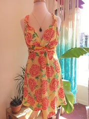 Hawaii floral wrap dress