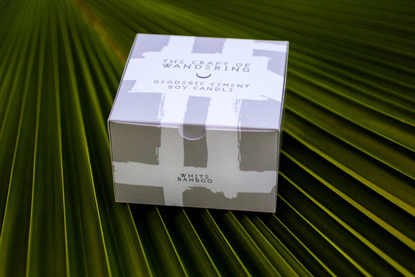"3"" x 2"" Geodesic White Bamboo Soy Candle"