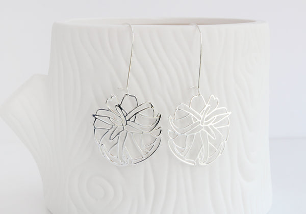 A Tea Leaf Jewelry - Air Plant Earrings | Style 2 | Silver