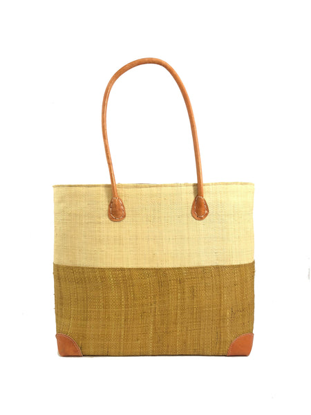 Trinidad Two Tone Straw Basket