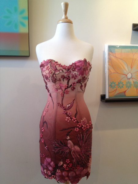 Hand Painted Corset Dress