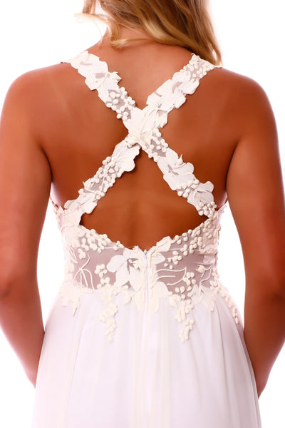 Criss-Cross Low Back Bridal Dress