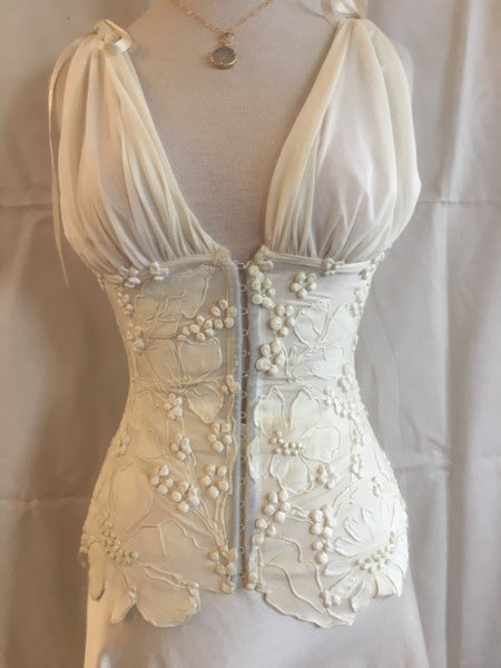 V-Front Cinched Waist Corset