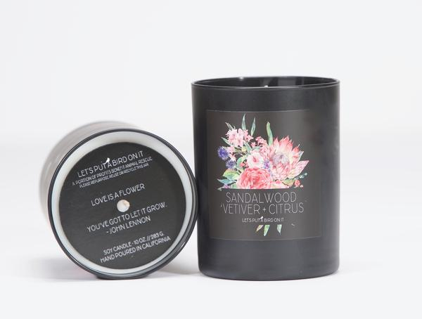 Sandalwood Vetiver Soy Candle