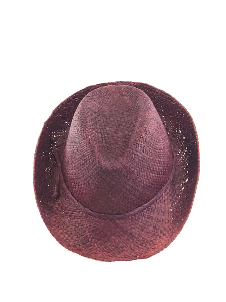 Fiston Straw Hat- Bordeaux