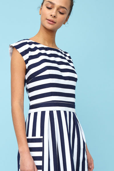 Zoe Nautical Stripe Dress