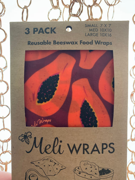Bees Wax Food Wraps - 3 pack