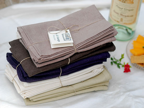 set of 4 hemp napkins