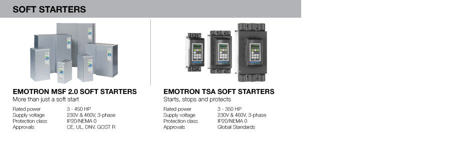 Emotron Soft Starters