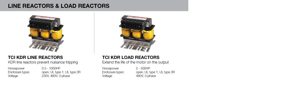 KDR Line Reactors and Load Reactors
