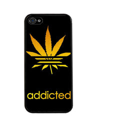 Weed Leaf Addicted iPhone Case