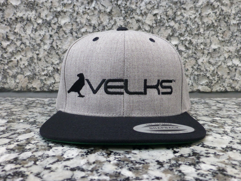 VELKS® Grey Two-Toned Snap-back Cap