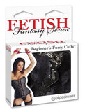 Esposas de metal con peluche Fetish Fantasy Series - Negras - Pipedream