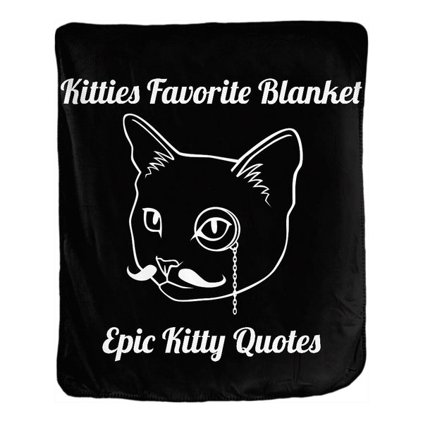 Cat Blanket for People Double Sided Velveteen Throw Kitties Favorite Blanket 50x60 inch EKQ, Blanket, EpicKittyQuotes