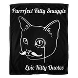 Cat Blanket for People Fleece Throw Purrrfect Kitty Snuggle 100% Polyester 50x60 inch EKQ, Blanket, EpicKittyQuotes
