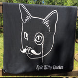 Unique Gifts for Cat Lovers Fleece Throw Blanket Down the yellow brick road over the hills we go to places unknown where kittens roam. 100% Polyester 50x60 inch EKQ, Blanket, EpicKittyQuotes