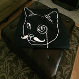 Cat Blanket for People Fleece Throw Meow Meow Purr 100% Polyester 50x60 inch EKQ, Blanket, EpicKittyQuotes
