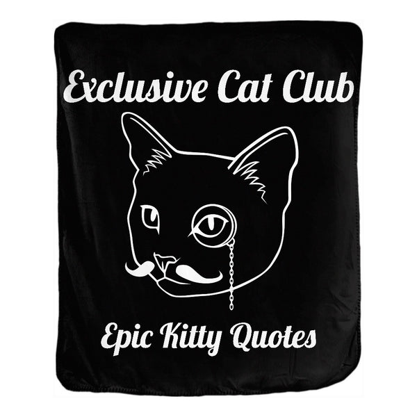 Cat Blanket for People Double Sided Velveteen Throw Exclusive Cat Club 50x60 inch EKQ, Blanket, EpicKittyQuotes