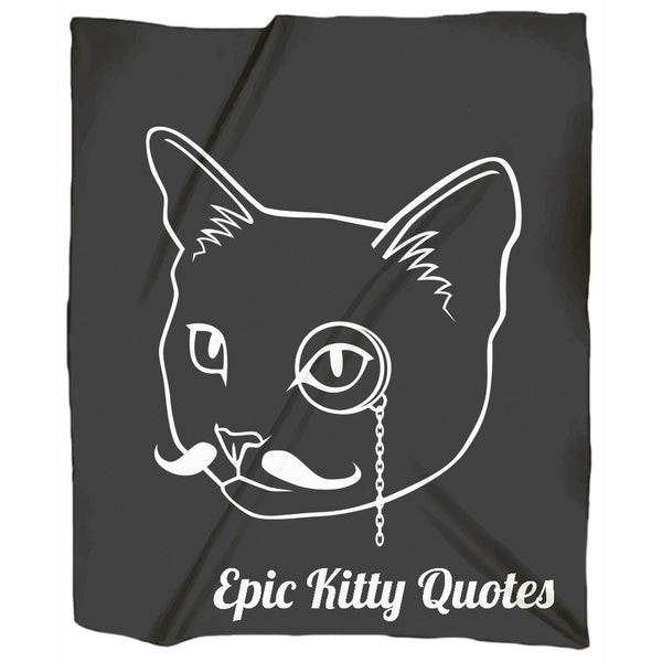 Epic Kitty Quotes Cat Blanket for People Jersey Throw, Blanket, EpicKittyQuotes