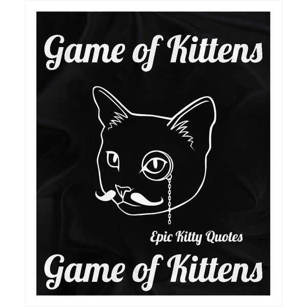 Cat Blanket Fleece Sherpa Throw Game of Kittens 100% Polyester 50x60 inch EKQ, Blanket, EpicKittyQuotes