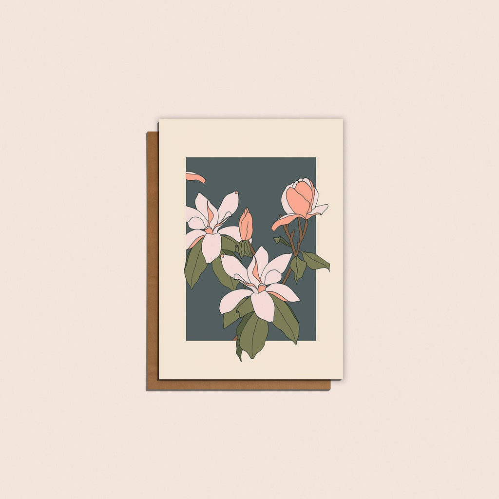 Magnolia Flower Card