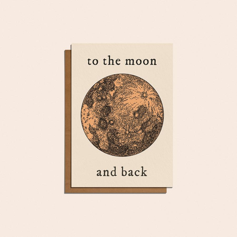 'To The Moon and Back' Card