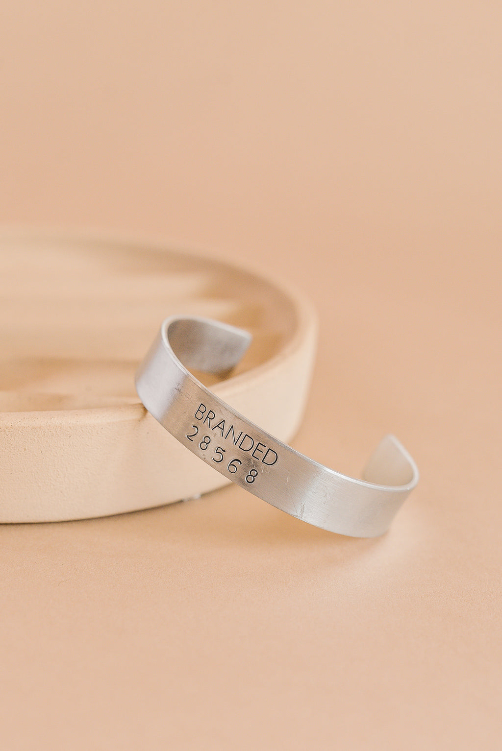 Small Aluminum Branded Cuff