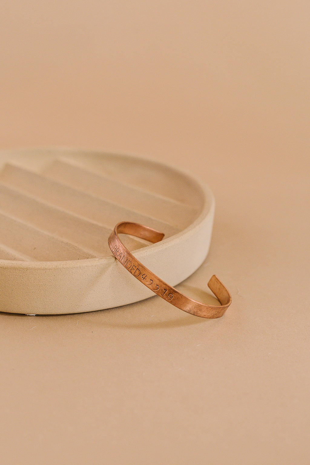 Tiny Copper Branded Cuff